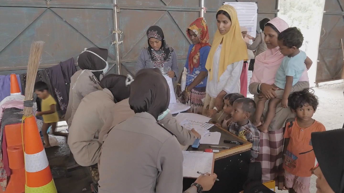 Selected frame from video story INDONESIA / ROHINGYA REFUGEES