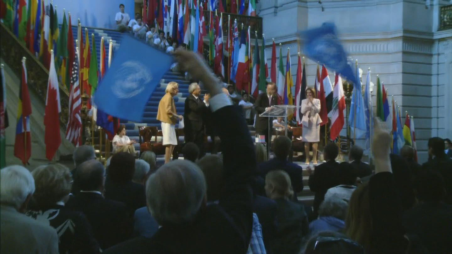 Selected frame from video story SAN FRANCISCO / UN CHARTER DAY