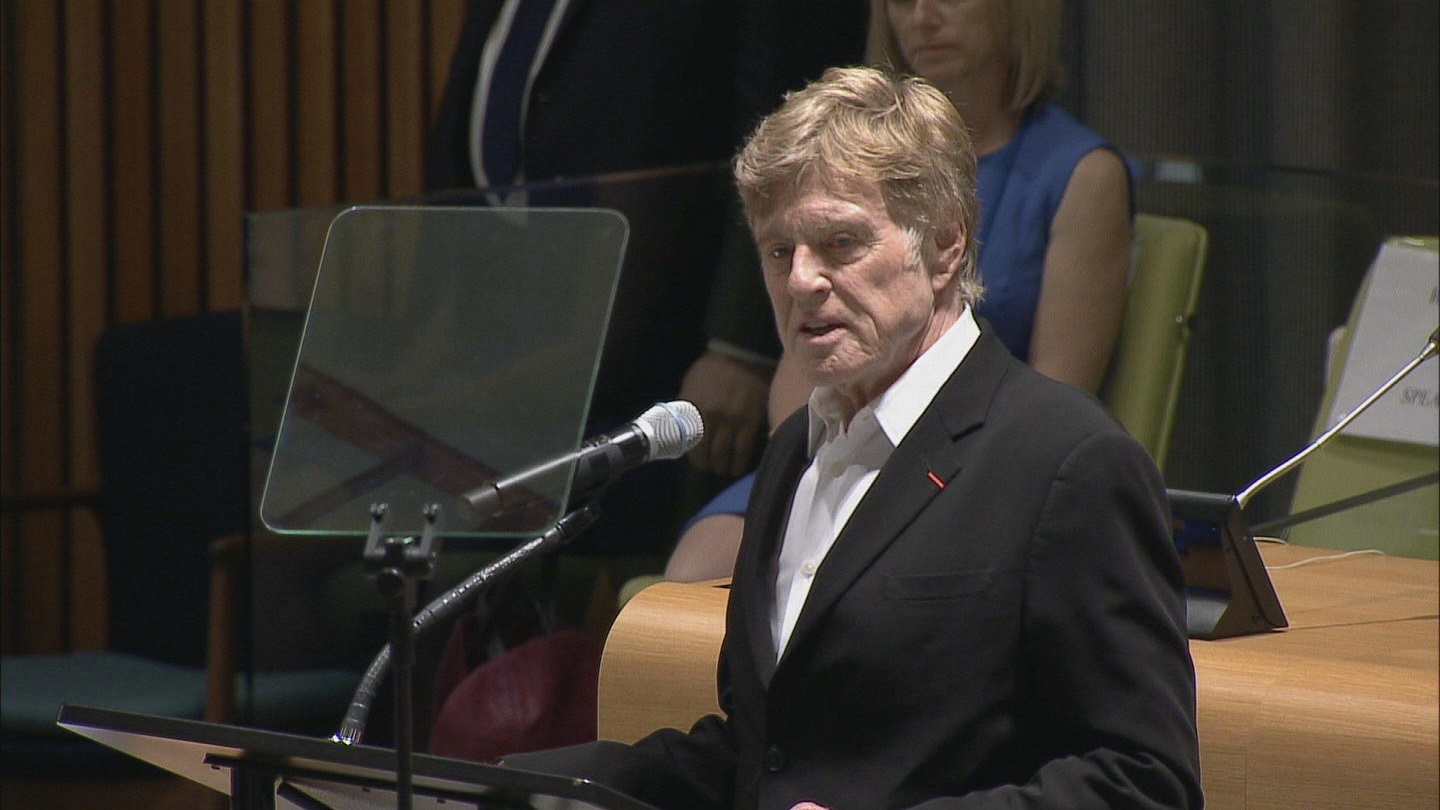 Selected frame from video story UN / REDFORD CLIMATE CHANGE
