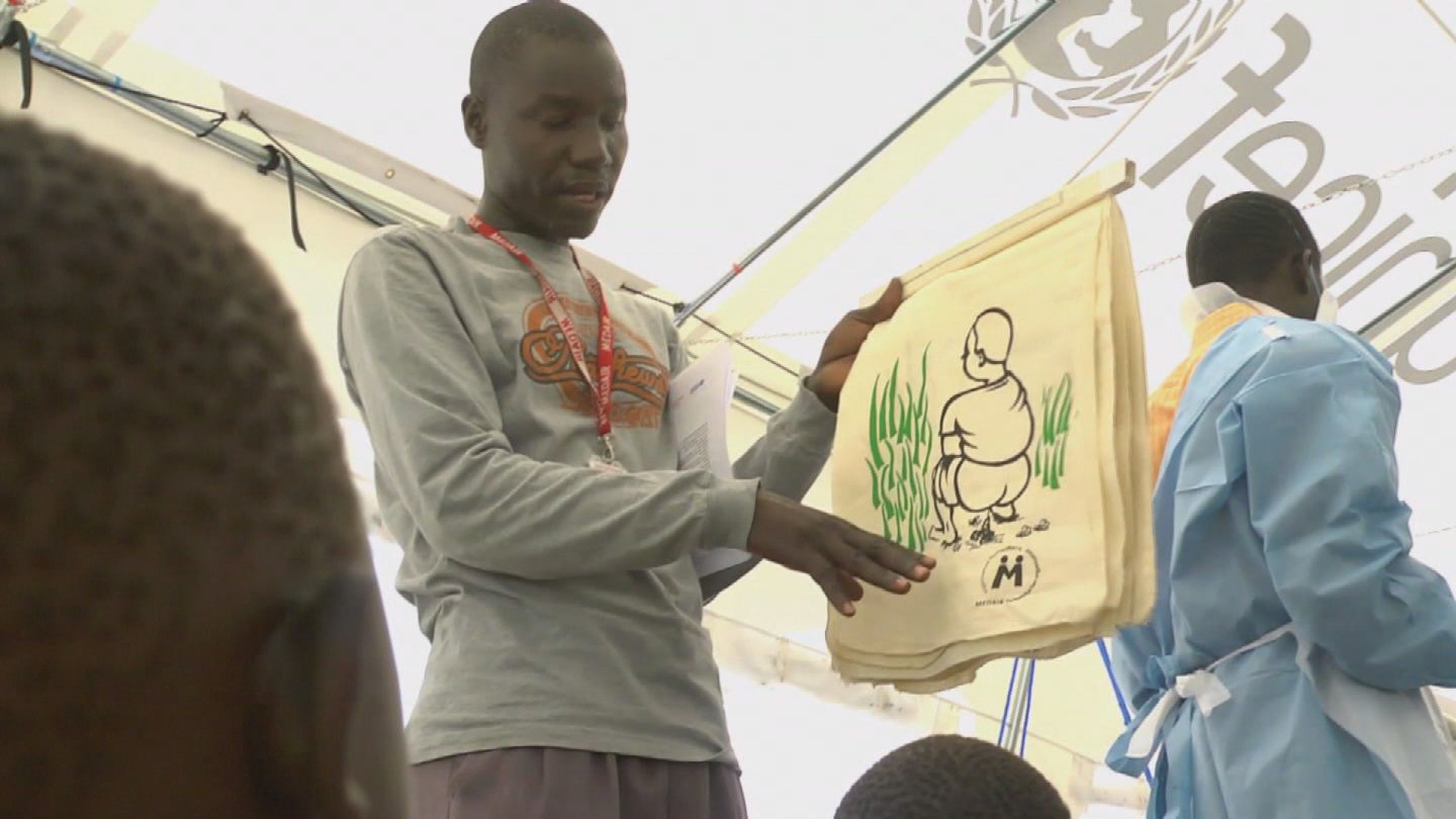Selected frame from video story UNICEF / WORLD SANITATION REPORT
