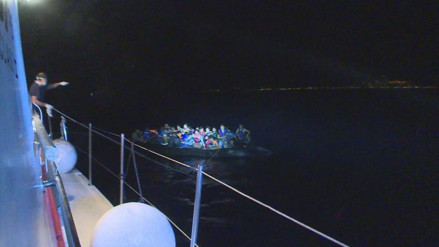 Selected frame from video story MEDITERRANEAN / MIGRANT CRISIS REPORT