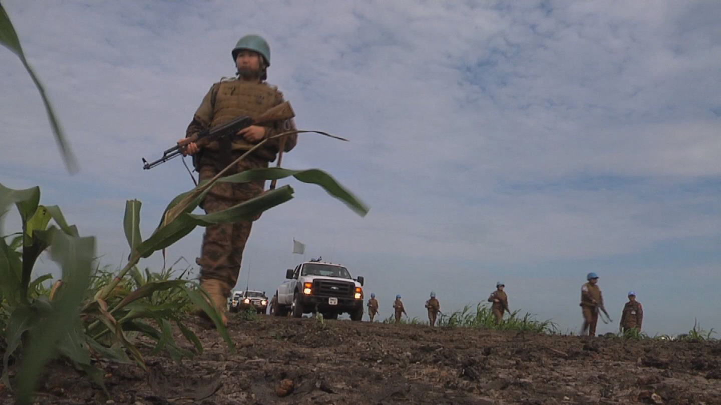 Selected frame from video story SOUTH SUDAN / MONGOLIAN WOMEN PEACEKEEPERS