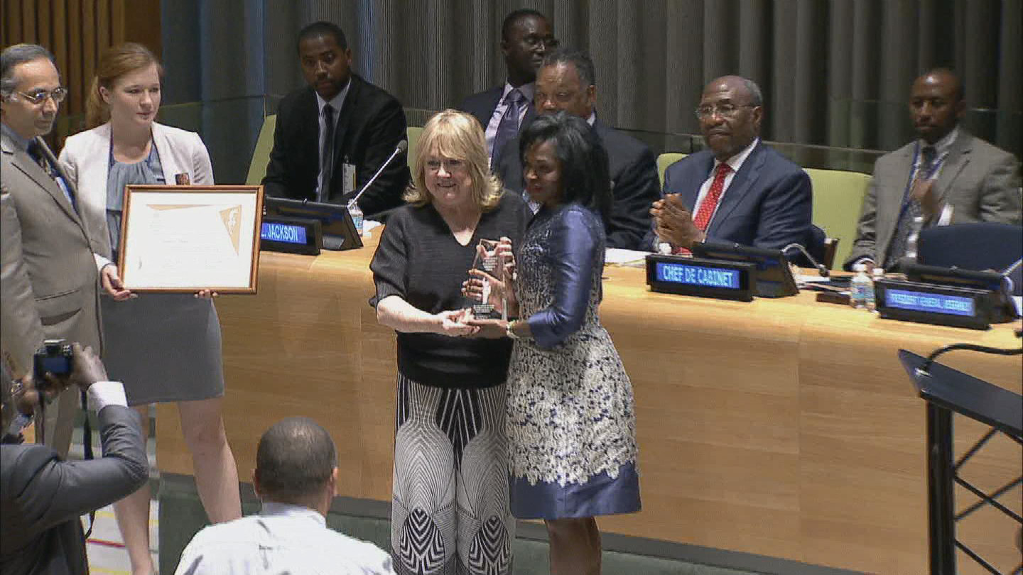 Selected frame from video story UN / MANDELA PRIZE