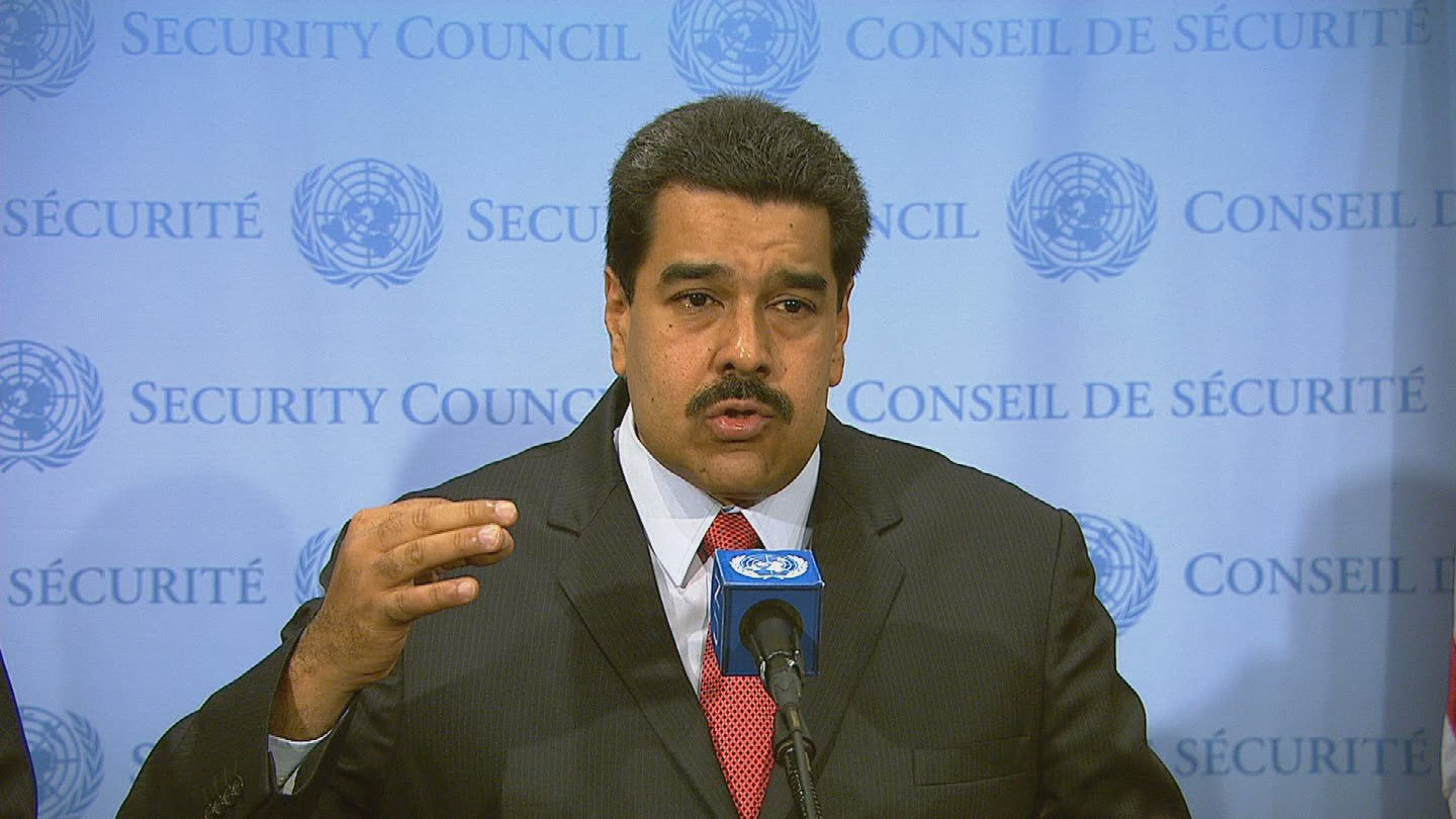 Selected frame from video story UN / MADURO