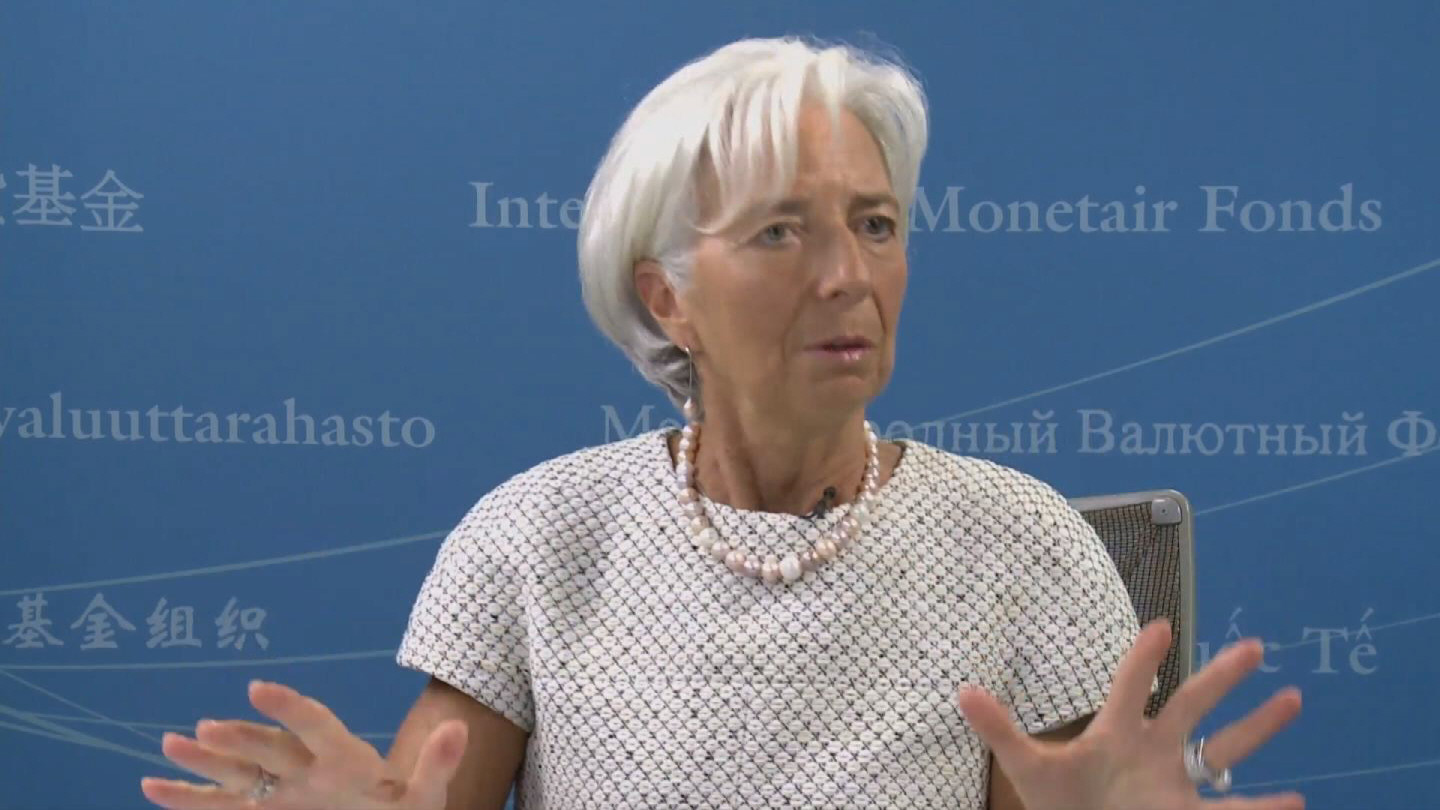 Selected frame from video story IMF / LAGARDE PRESSER