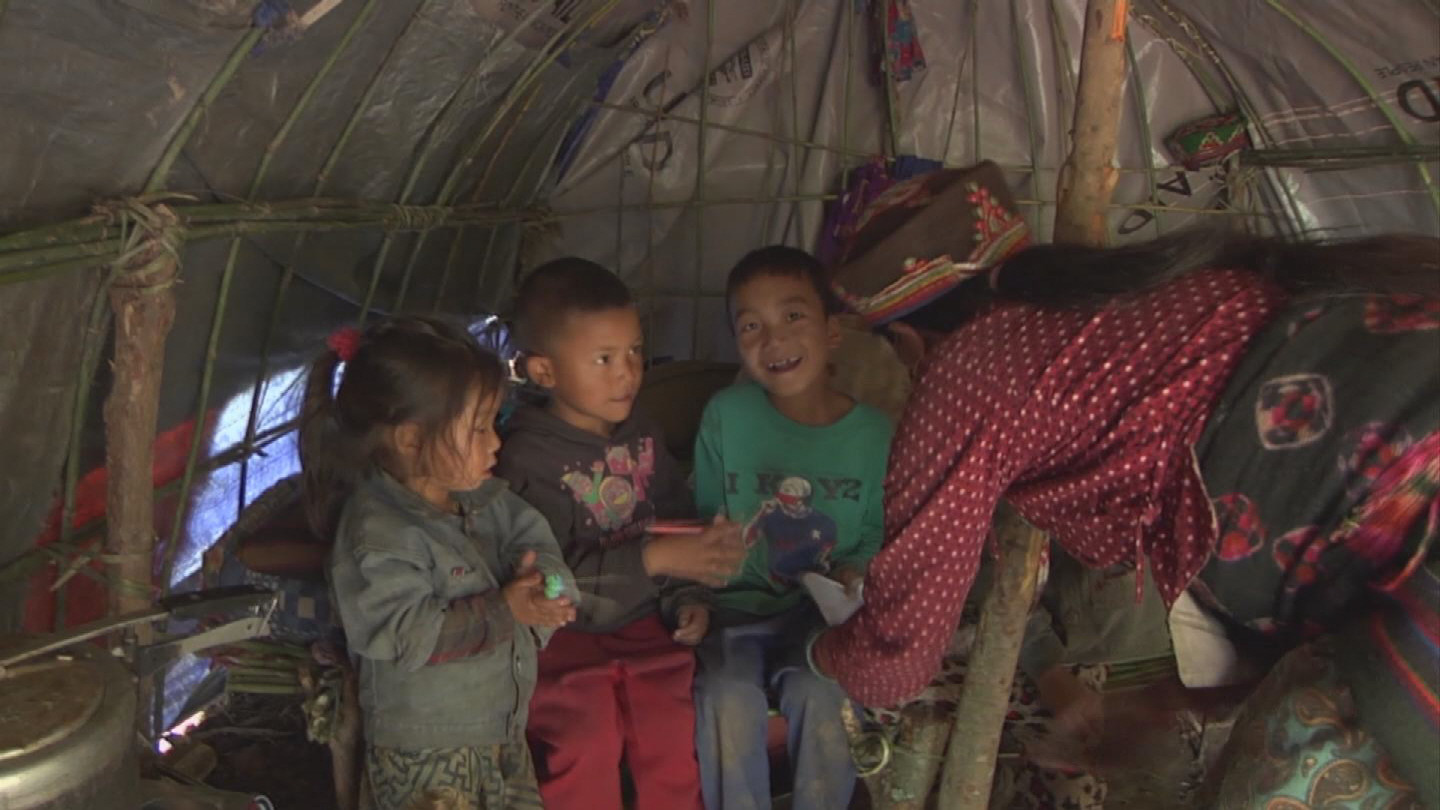 Selected frame from video story NEPAL / EARTHQUAKE DISPLACED COMMUNITIES