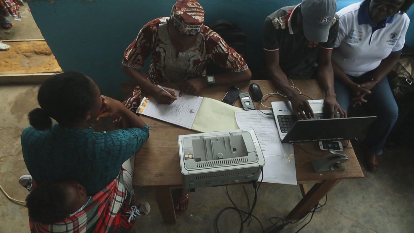 Selected frame from video story LIBERIA / POST EBOLA BIRTH REGISTRATION