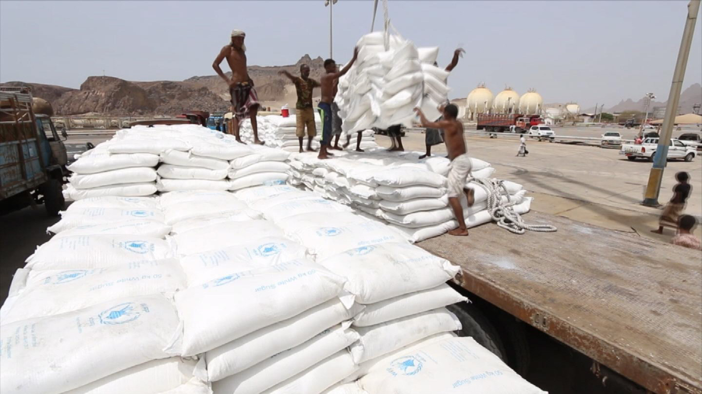 Selected frame from video story YEMEN / ADEN FOOD DISTRIBUTION