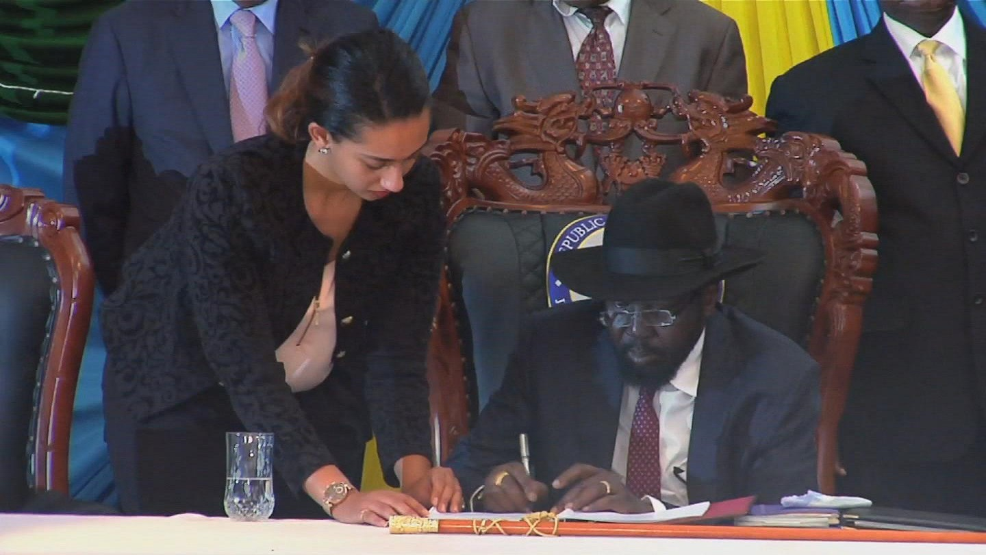 Selected frame from video story SOUTH SUDAN / PEACE DEAL SIGNING