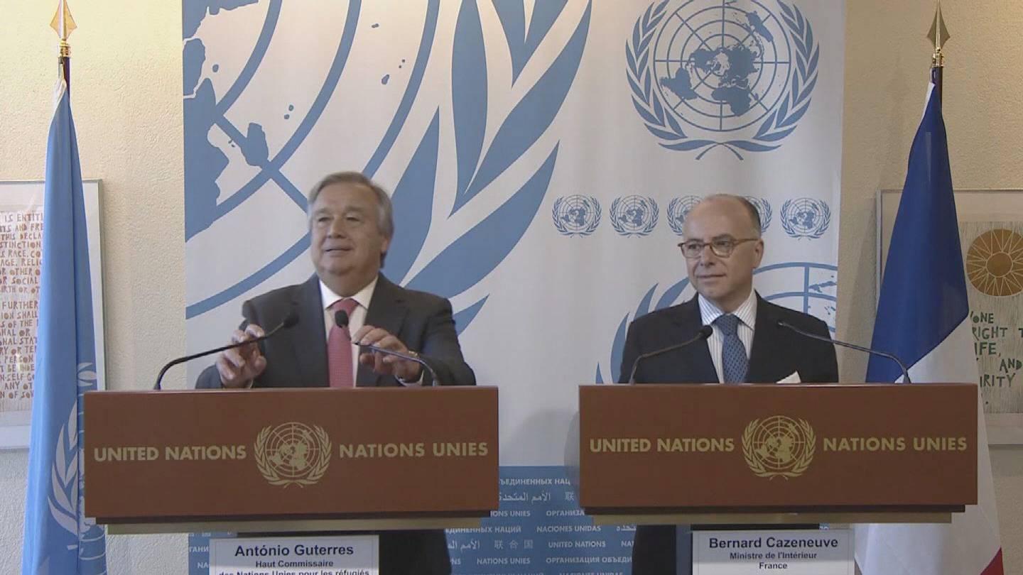 Selected frame from video story UNHCR / MIGRANTS PRESSER WRAP
