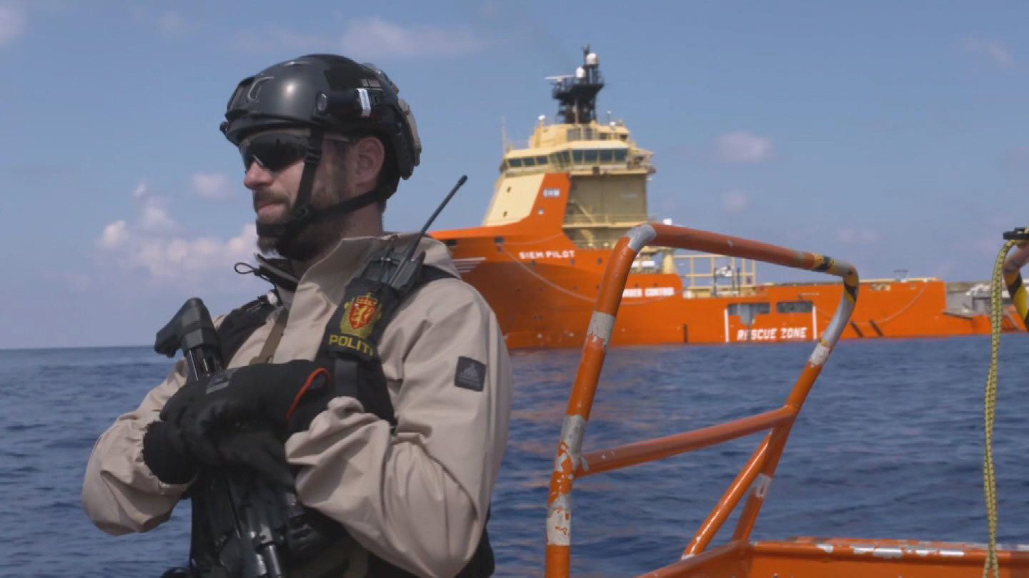 Selected frame from video story UNHCR / NORWEGIAN RESCUE VESSEL