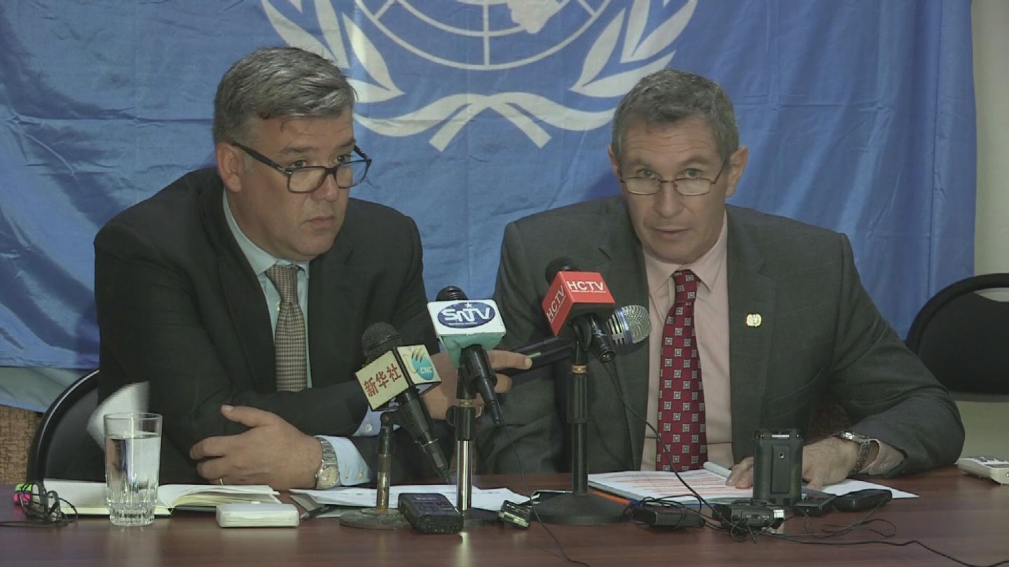 Selected frame from video story SOMALIA / FOOD SITUATION PRESSER