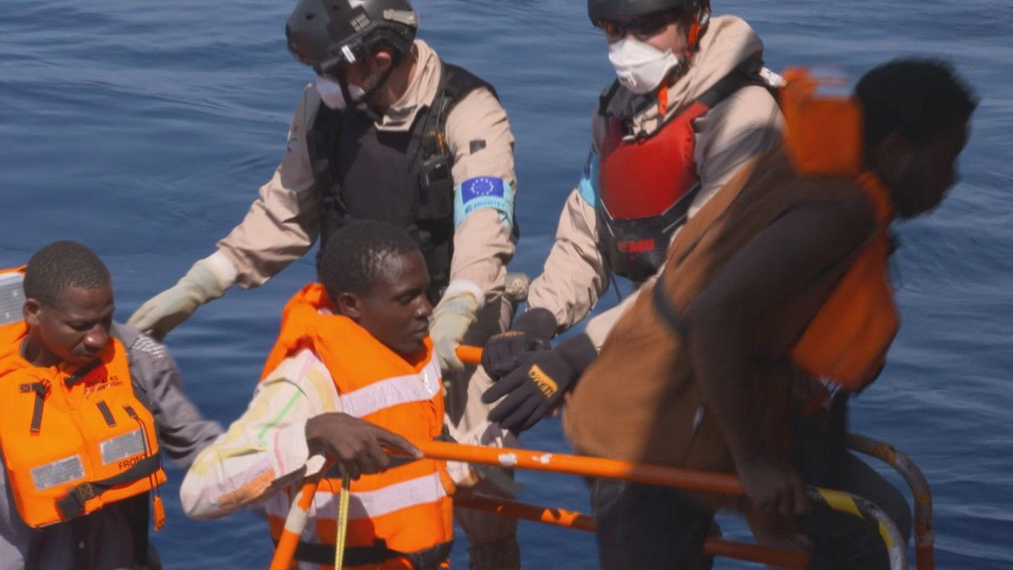 Selected frame from video story MEDITERRANEAN / RESCUE AT SEA