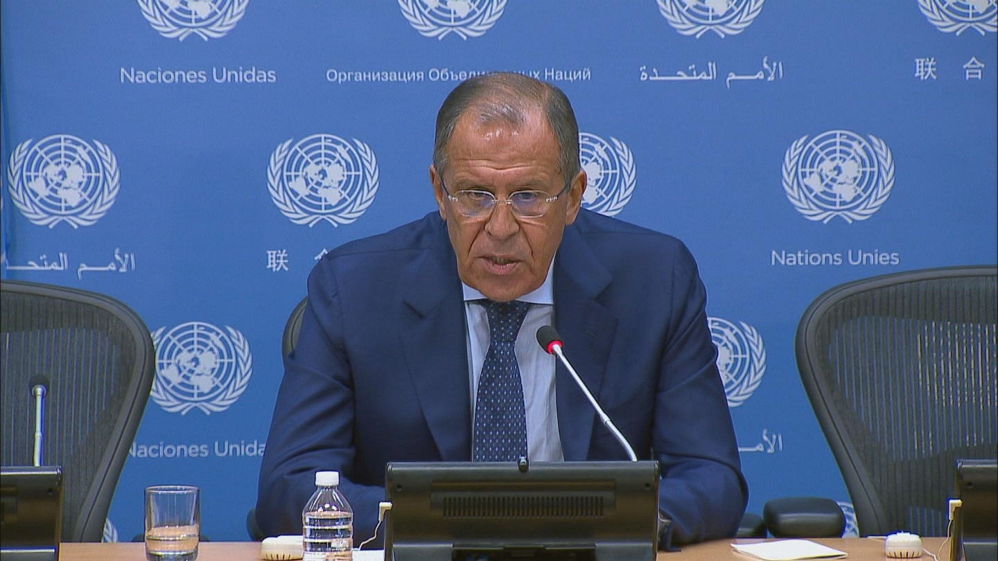 Selected frame from video story UN / LAVROV PRESSER