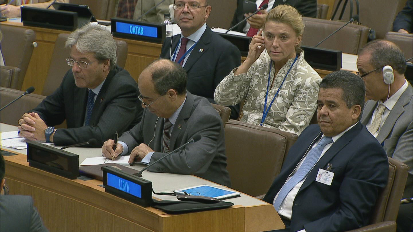 Selected frame from video story UN / LIBYA MEETING