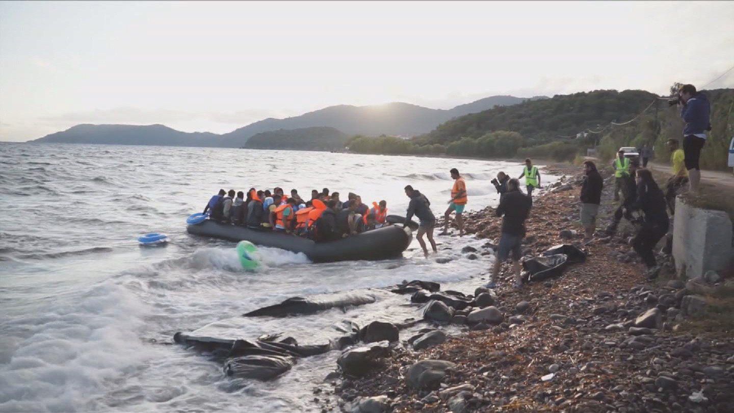 Selected frame from video story GREECE / LESBOS REFUGEES