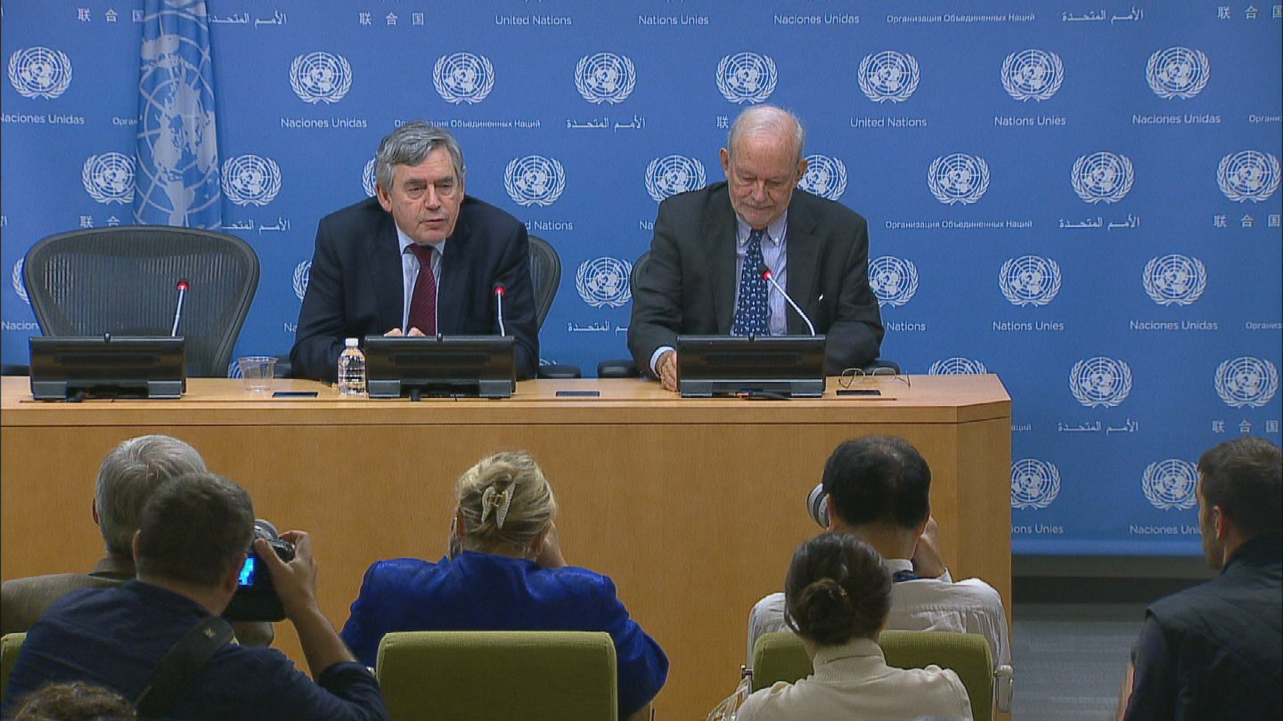 Selected frame from video story UN / EMERGENCY EDUCATION PRESSER