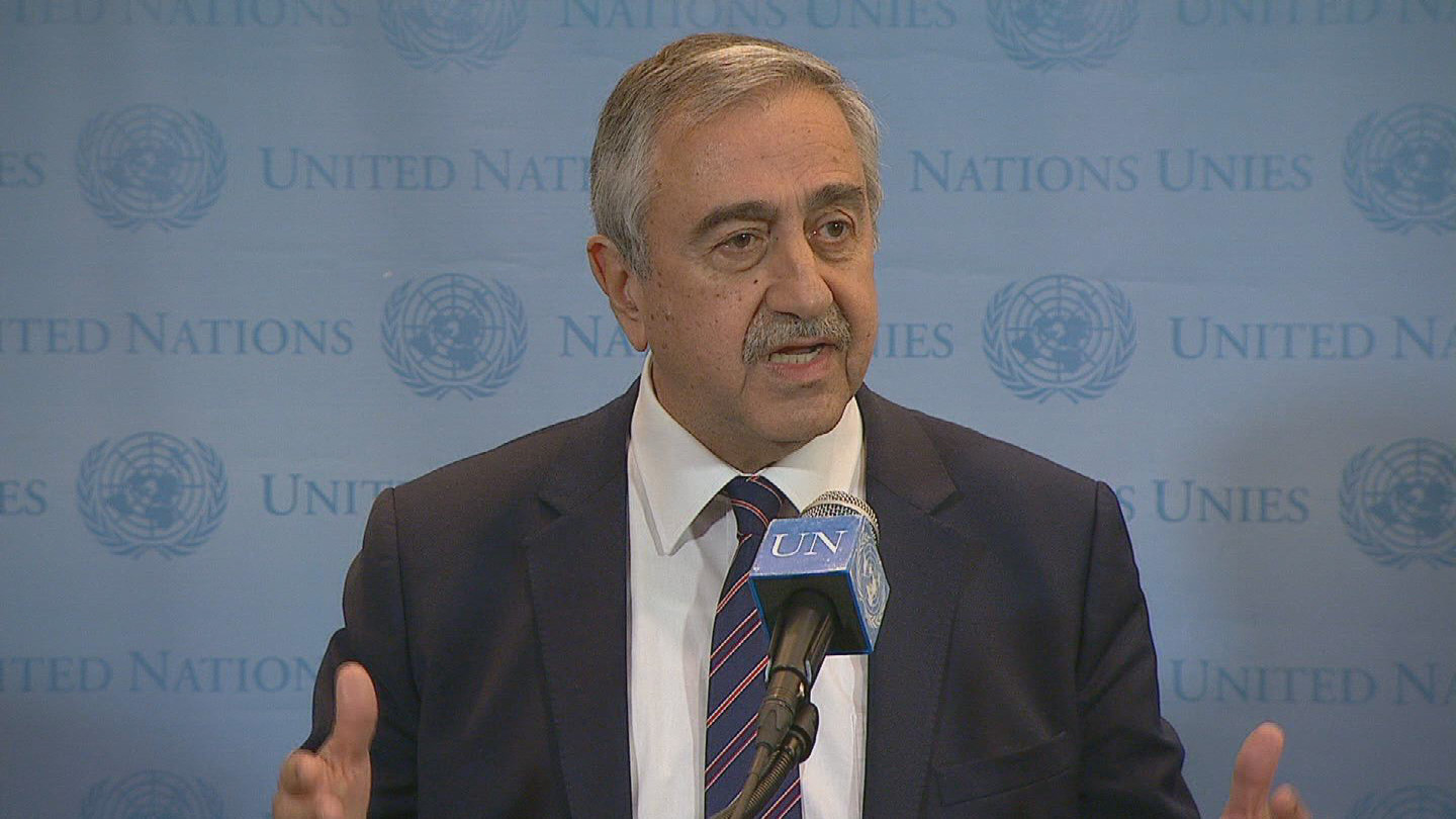Selected frame from video story UN / TURKISH CYPRIOT LEADER
