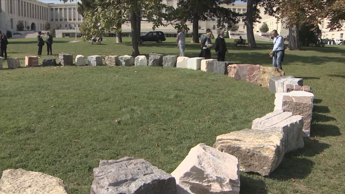 Selected frame from video story GENEVA / REBIRTH MONUMENT