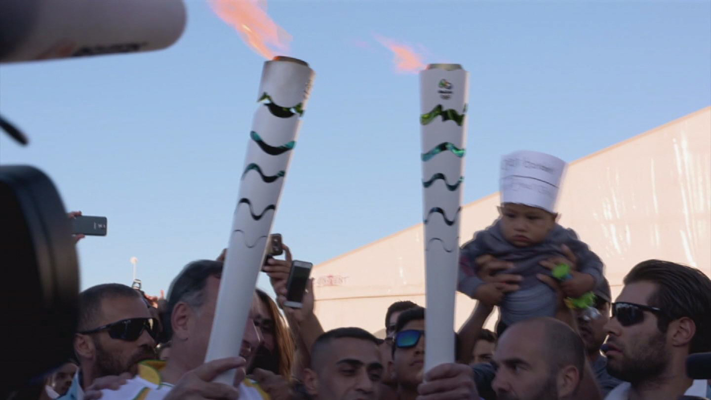 GREECE / SYRIA OLYMPIC TORCH RUNNER