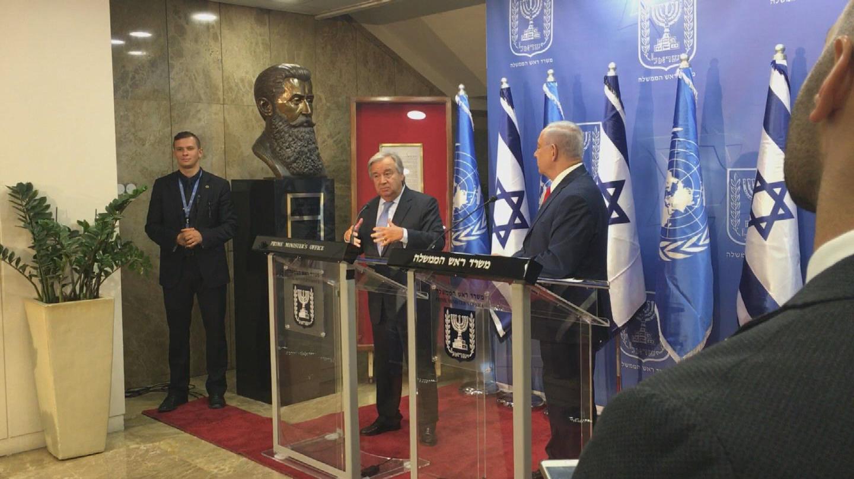 ISRAEL  GUTERRES NETANYAHU
