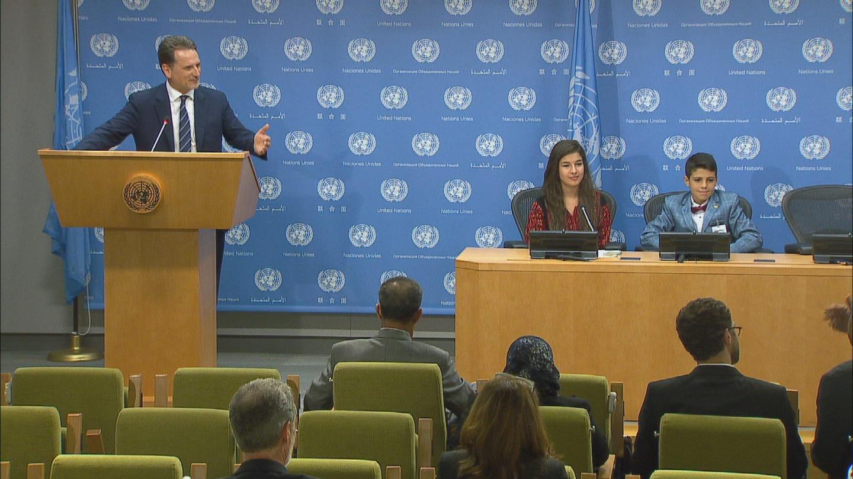 UN / UNRWA PRESSER