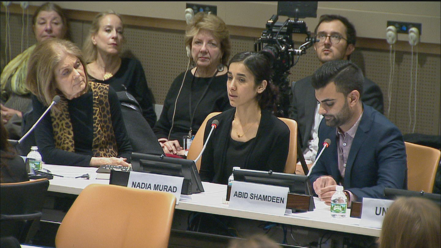 UN  NADIA MURAD TRAFFICKING