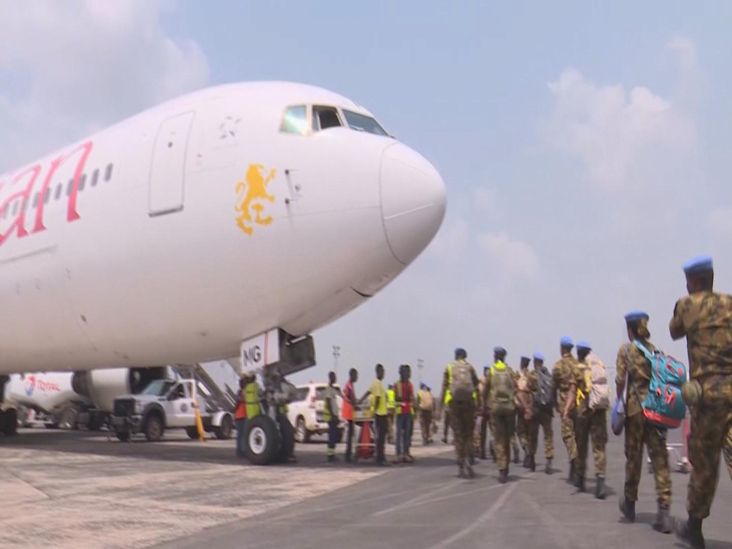 LIBERIA  PEACEKEEPERS DEPARTURE