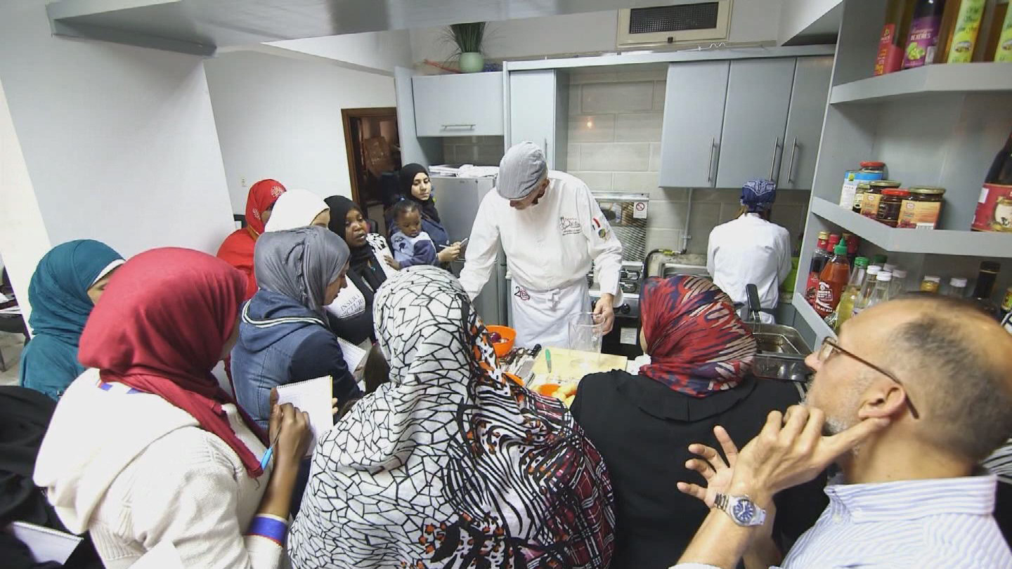 EGYPT  REFUGEE WOMEN COOKING COURSE