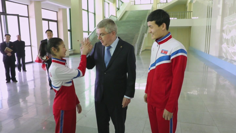 DPRK  IOC BACH VISIT