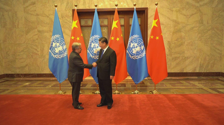 CHINA  GUTERRES XI MEETING