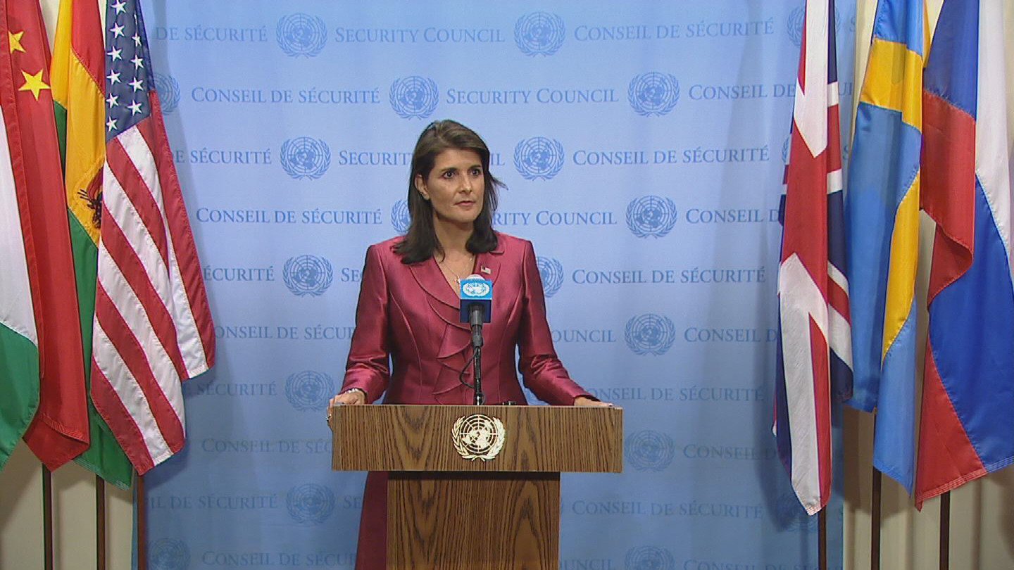 UN / HALEY US PRIORITIES
