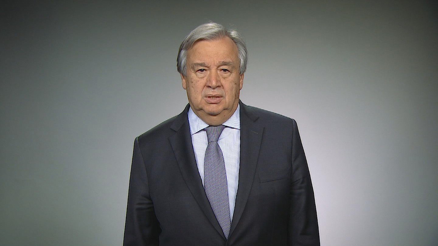 UN  GUTERRES NEW YEAR MESSAGE- FRENCH