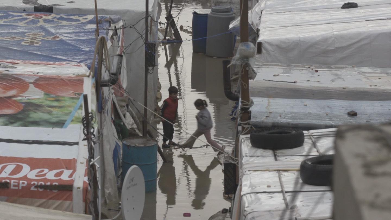 LEBANON  REFUGEES STORM