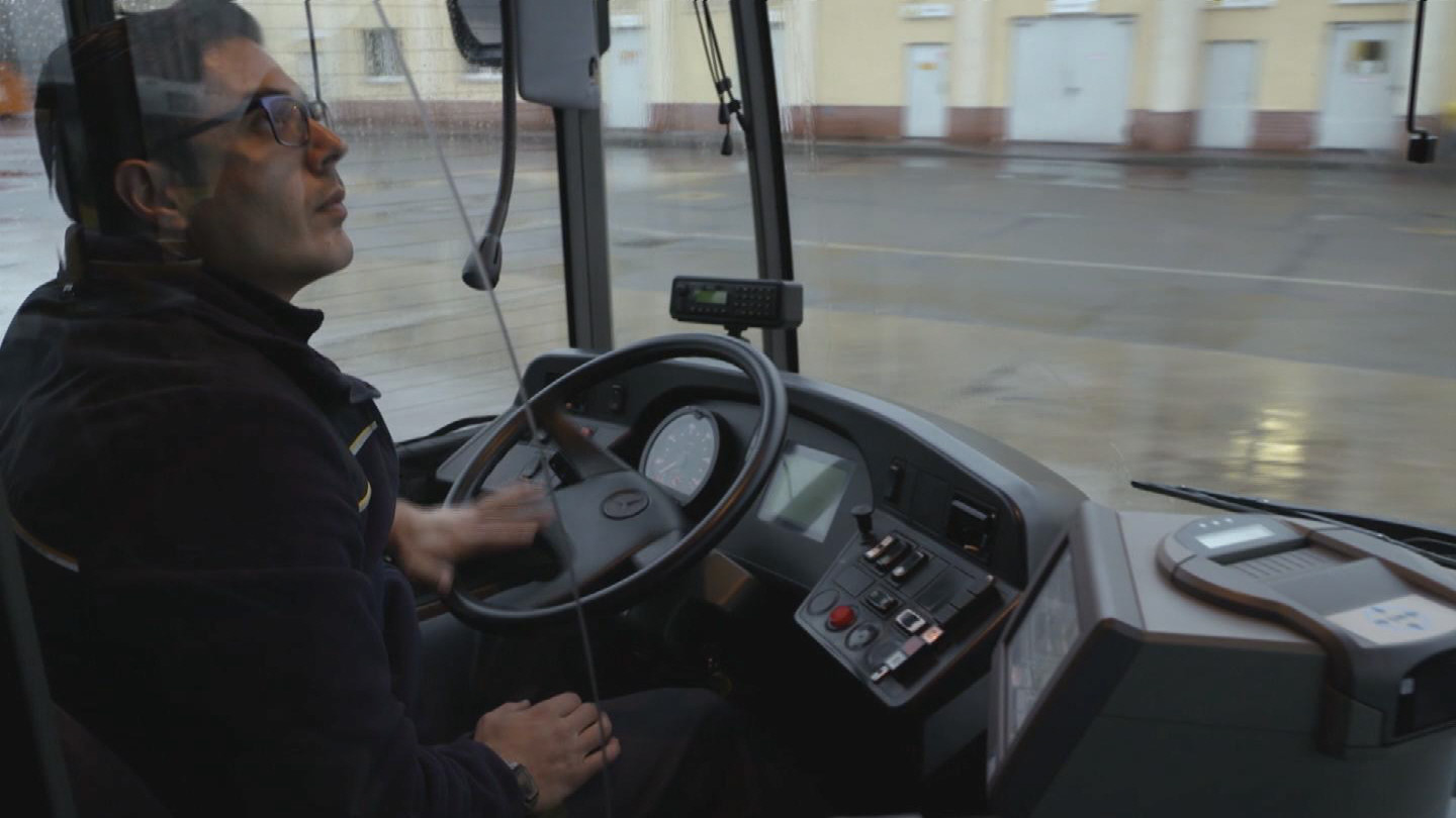 BERLIN  REFUGEE BUS DRIVER