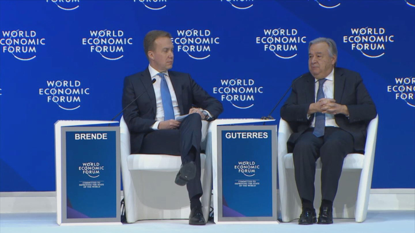DAVOS  GUTERRES STATE OF THE WORLD