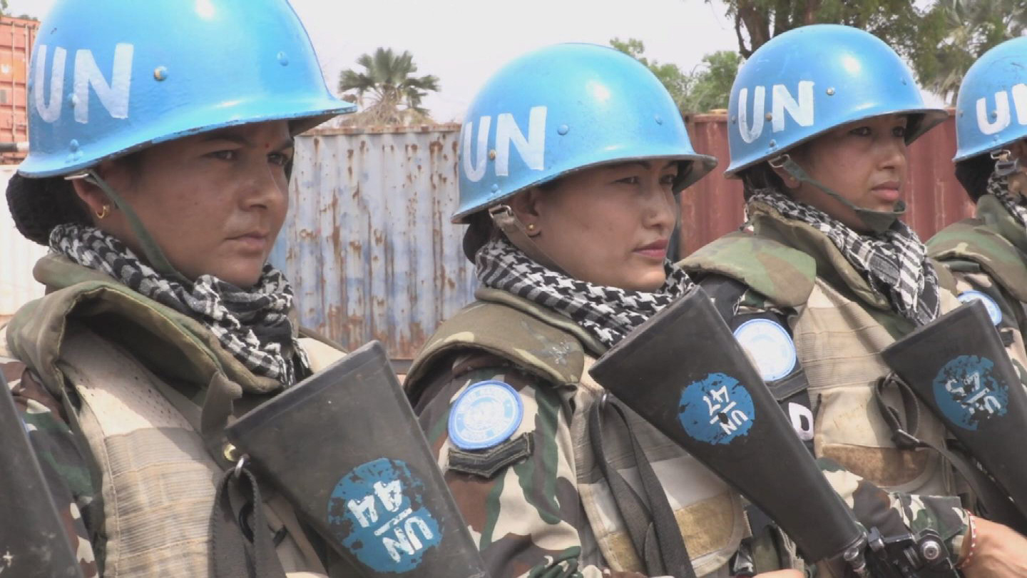 SOUTH SUDAN  NEPALESE FEMALE PEACEKEEPERS