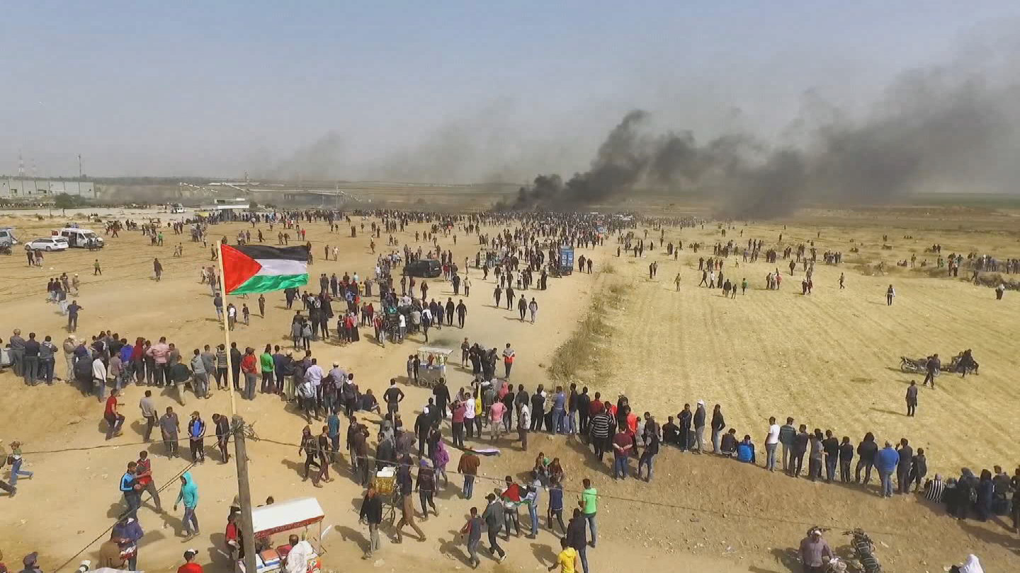 GAZA  PROTESTS BROLL
