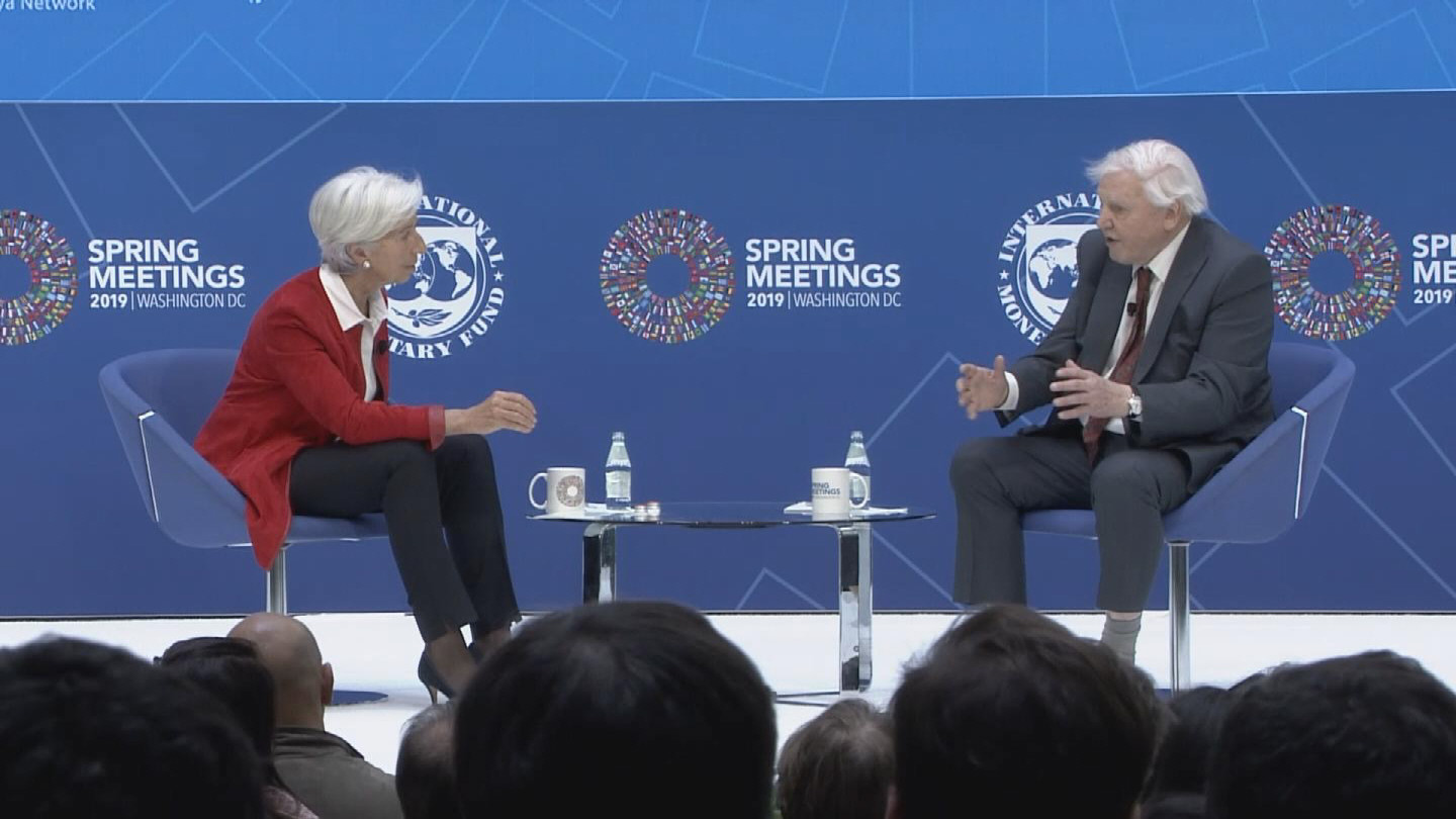 IMF  LAGARDE AND ATTENBOROUGH
