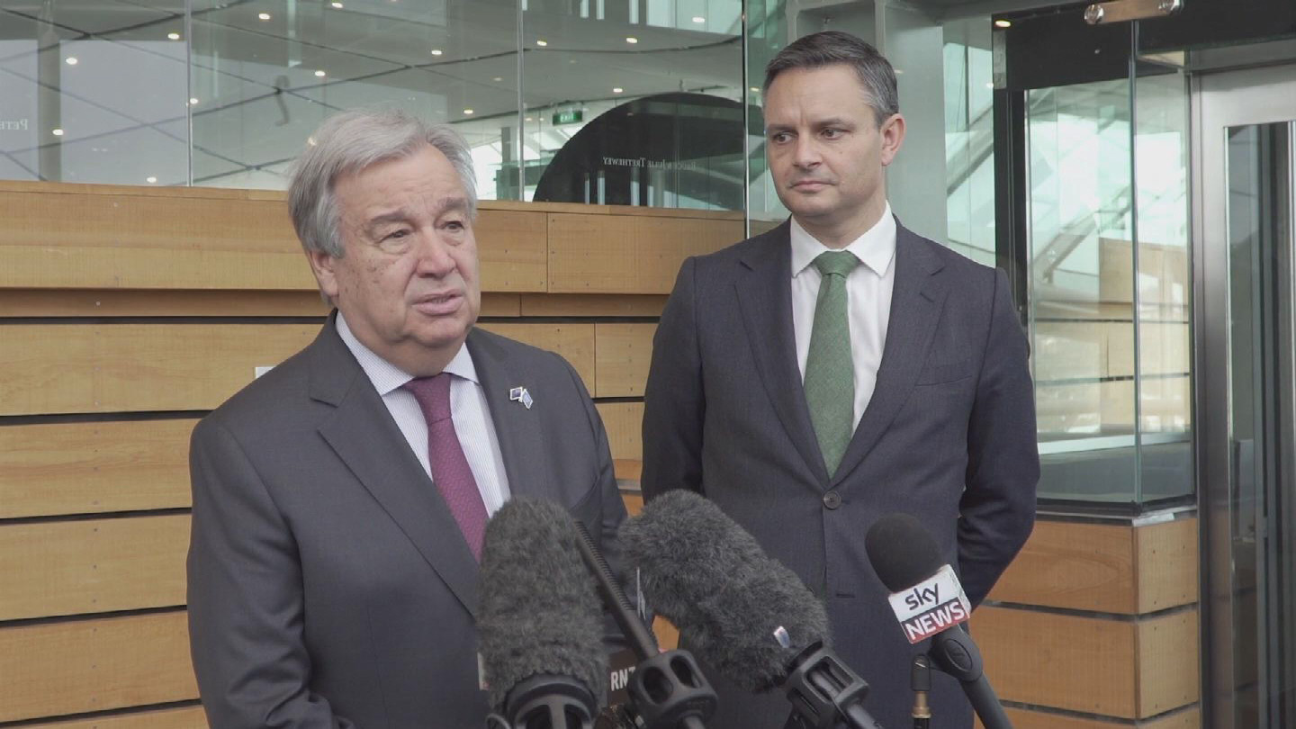 NEW ZEALAND  GUTERRES CLIMATE CHANGE