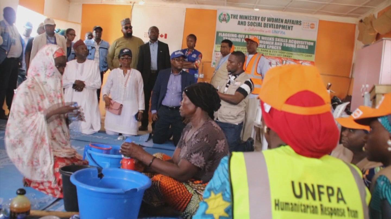 NIGERIA  BANKERS VISIT IDP CAMP