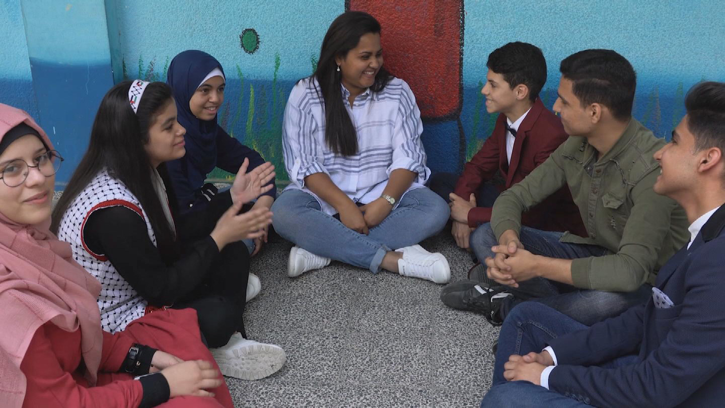 GAZA  YOUTH ENVOY UNRWA SCHOOL