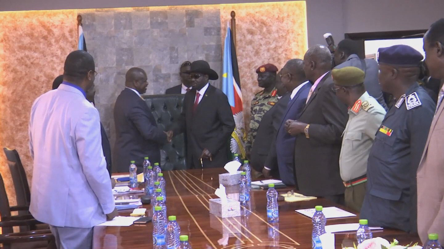 SOUTH SUDAN  RIEK MACHAR SALVA KIIR