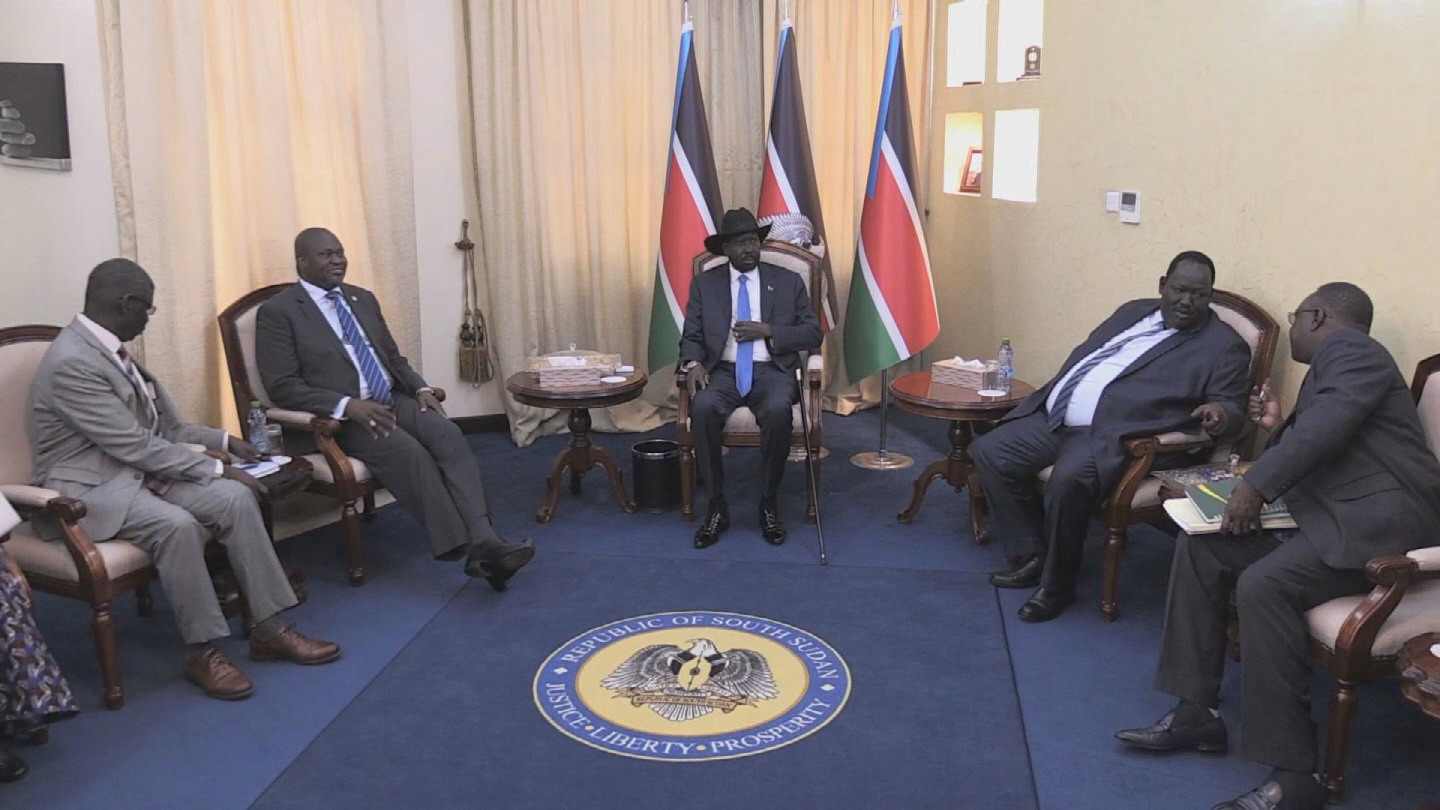 SOUTH SUDAN  KIIR MACHAR MEETING