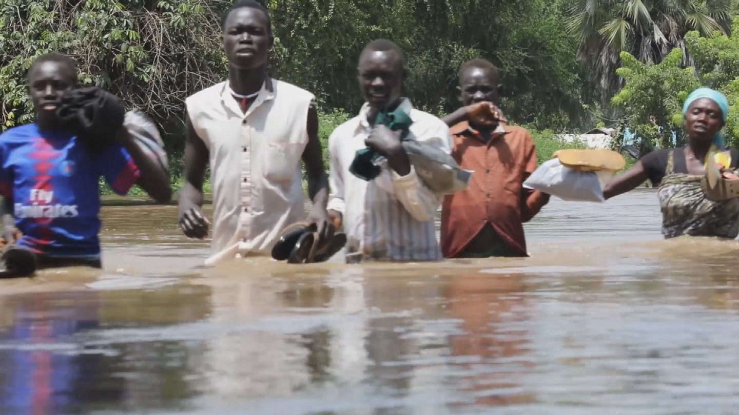 SOUTH SUDAN  FLOODS DISPLACED