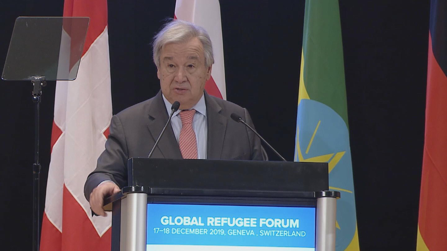 GENEVA  GLOBAL REFUGEE FORUM GUTERRES