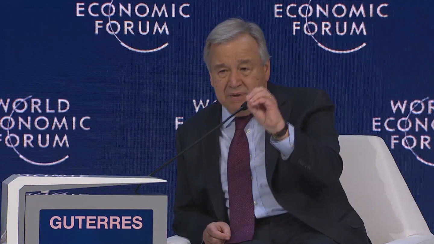 DAVOS / GUTERRES CLIMATE CHANGE