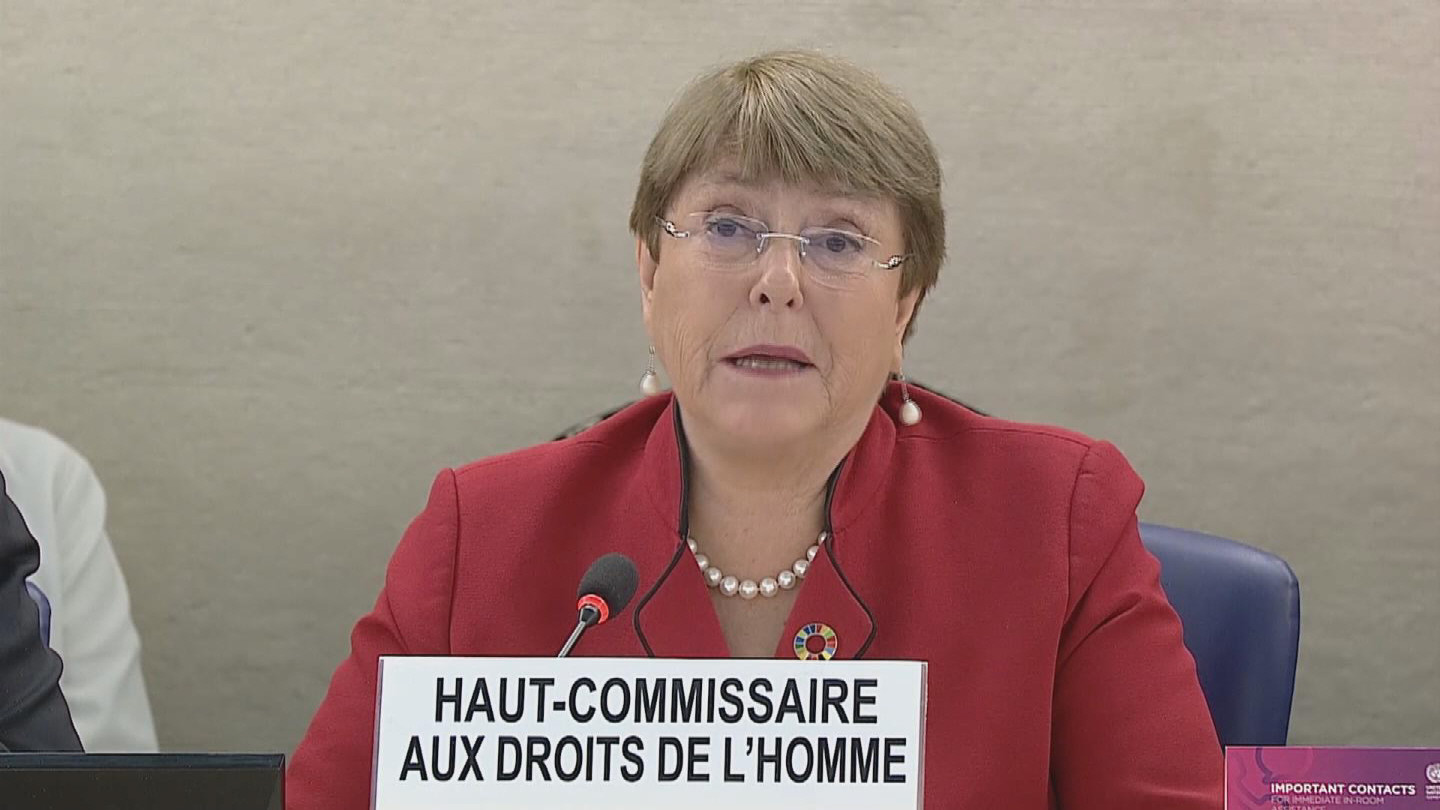 OHCHR  BACHELET HUMAN RIGHTS COUNCIL OPENING