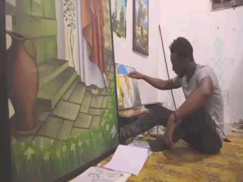 LIBYA  ERITREAN REFUGEE ART