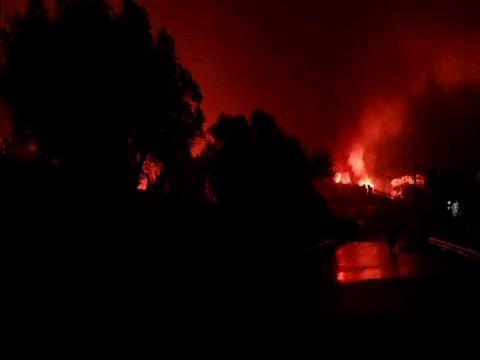GREECE  MORIA FIRE BROLL